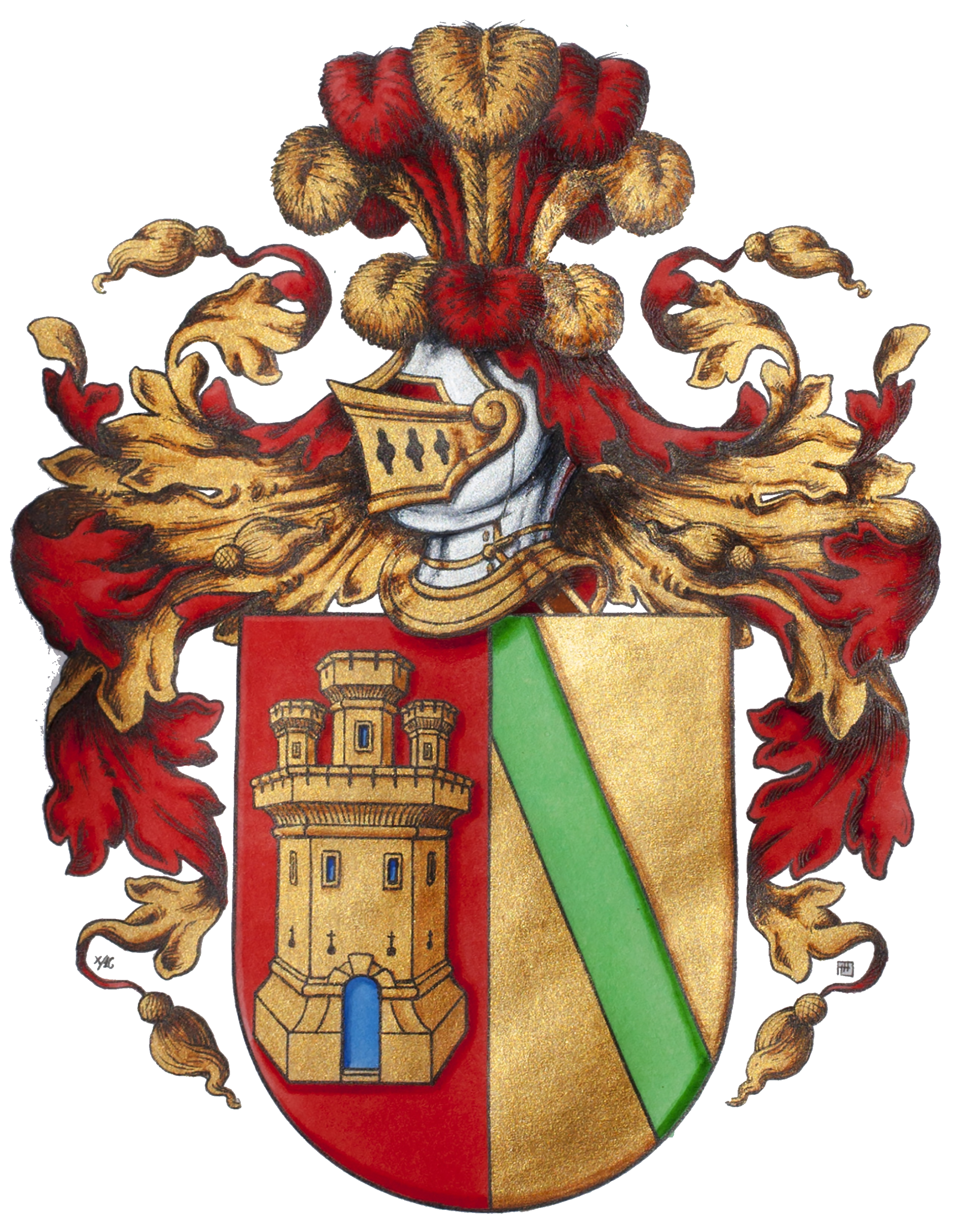Coat of arms of the Carrillo de Albornoz family.